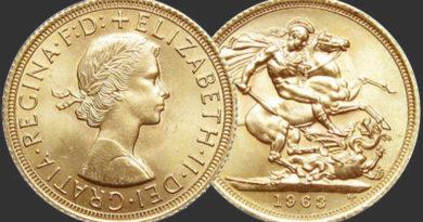 Sterlina Oro Elisabetta II 1963