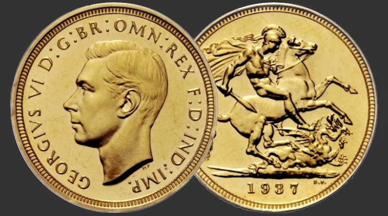 Sterlina Oro Re Giorgio VI del 1937